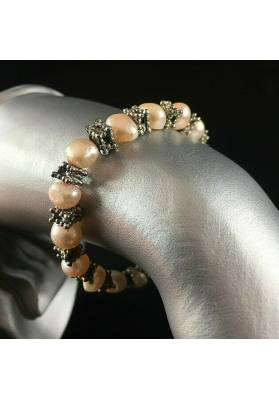 Bracelet + Necklace in Naturals PEARL Vintage SILVER 15% OFF Special Jewels-2