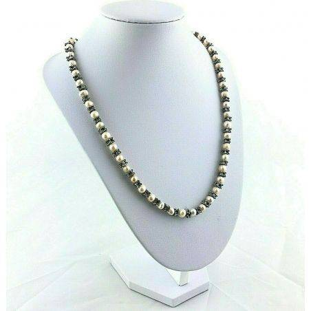 Bracelet + Necklace in Naturals PEARL Vintage SILVER 15% OFF Special Jewels-5