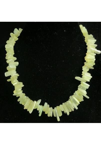 Necklace Chips in Green JADE Jewel Woman Bijou MINERALS Collier Gift Idea-1