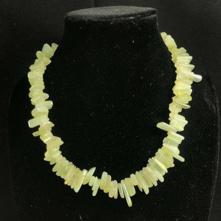 Necklace Chips in Green JADE Jewel Woman Bijou MINERALS Collier Gift Idea-2