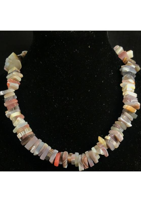 Necklace Chips in AGATE MULTICOLOR Jewel Woman MINERALS Gift Idea Collier-1