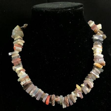 Necklace Chips in AGATE MULTICOLOR Jewel Woman MINERALS Gift Idea Collier-4