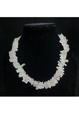 Necklace Chips of Hyaline Quartz Jewel Woman MINERALS Gift Idea Collier Bijou-1