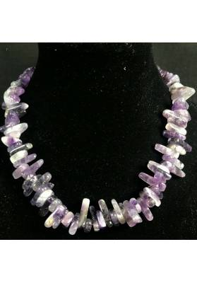 Necklace Chips in AMETHYST A+ Jewel Woman MINERALS Gift Idea Collier Bijou-1