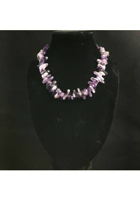 Necklace Chips in AMETHYST A+ Jewel Woman MINERALS Gift Idea Collier Bijou-4