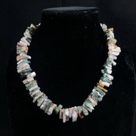 Necklace Chips in ORBICULAR OCEAN JASPER Jewel Woman MINERALS Gift Idea-4