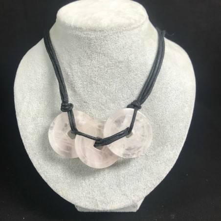 Necklace with Charm in Hyaline Quartz Jewel Bijou Gift Idea Woman Collier MINERALS−3