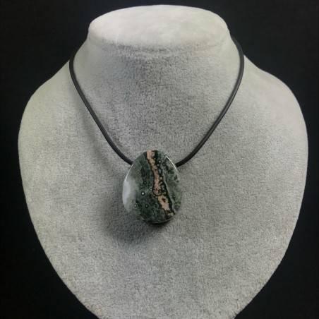 Pendant Gemstone in Orbicular Ocean JASPER Green Rarissimo Jewel Gift Idea A+−3