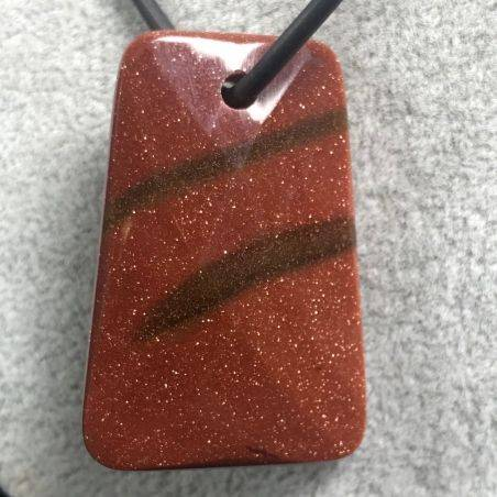 Pendant Gemstone in Faceted Red SUN Stone Jewel Crystal Healing Chakra Stone-1