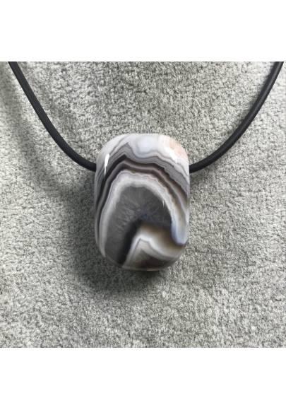 Pendant Gemstone in AGATE Purple-GRIGIA MINERALS Bijou Necklace Gift Idea Jewel-1