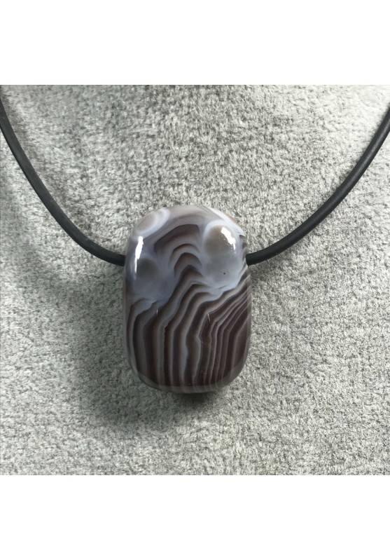 Pendant Gemstone in AGATE Purple-GRIGIA MINERALS Bijou Necklace Gift Idea Jewel−3