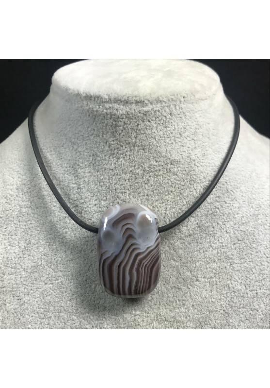 Pendant Gemstone in AGATE Purple-GRIGIA MINERALS Bijou Necklace Gift Idea Jewel-4