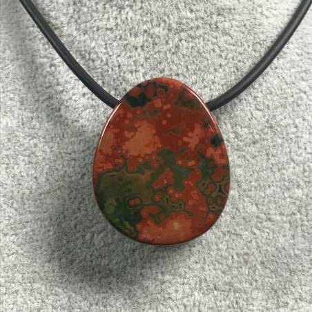 Pendant Gemstone in Orbicular Ocean JASPER Rare Gift Idea Healing Crystal Jewel A+-2