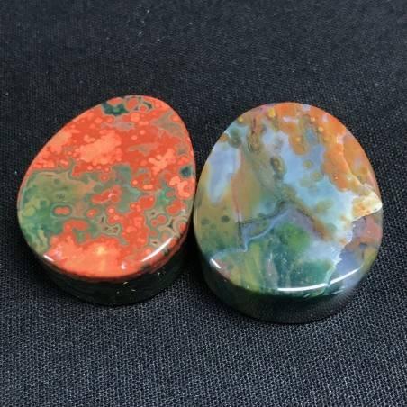 Pendant Gemstone in Orbicular Ocean JASPER Rare Gift Idea Healing Crystal Jewel A+−3
