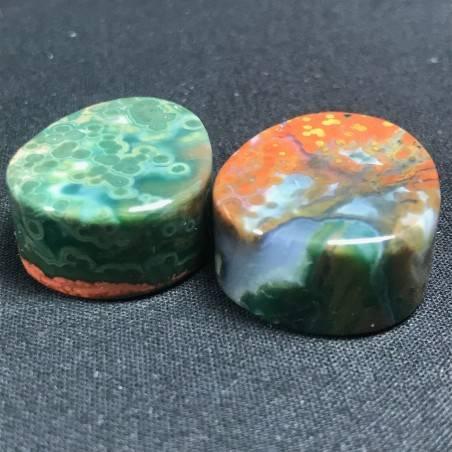 Pendant Gemstone in Orbicular Ocean JASPER Rare Gift Idea Healing Crystal Jewel A+-4