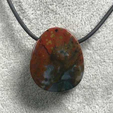 Pendant Gemstone in Orbicular Ocean JASPER Rare Gift Idea Healing Crystal Jewel A+-6