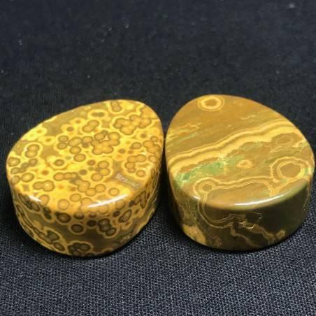 Pendant Gemstone in Orbicular Ocean JASPER Brown Gift Idea Bijou Jewel A+-4