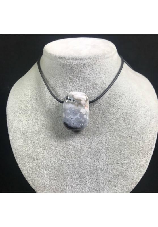 Pendant Gemstone in Orbicular Ocean JASPER Purple Rarissimo Gift Idea Jewel A+−3