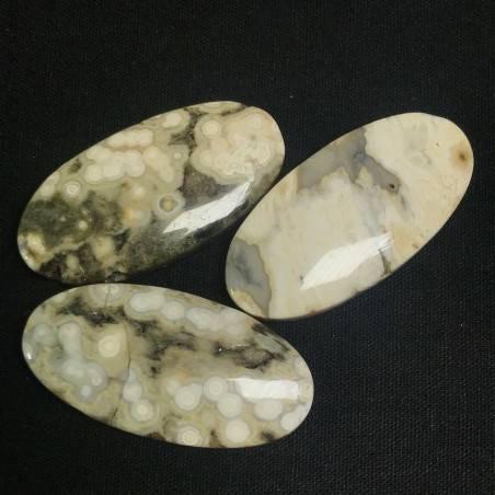 Pendant Gemstone in Orbicular Ocean JASPER Clear MINERALS Gift Idea Jewel A+−3