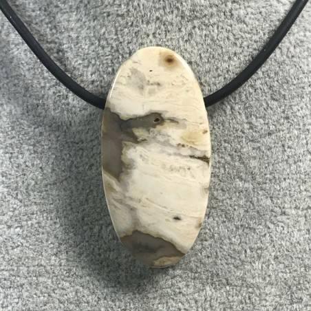 Pendant Gemstone in Orbicular Ocean JASPER Clear MINERALS Gift Idea Jewel A+-4