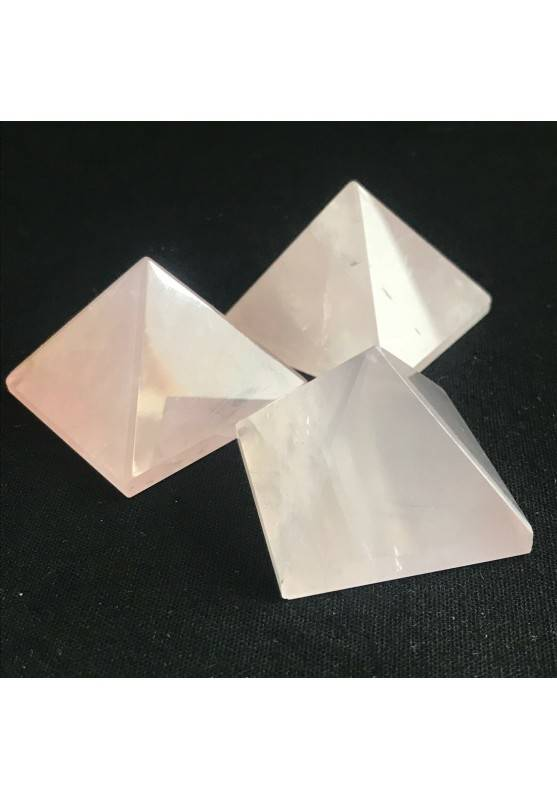 MINERALS * Wonderful Pink Rose Quartz PYRAMID 3.3x3.3cm Healing High Quality A+-1