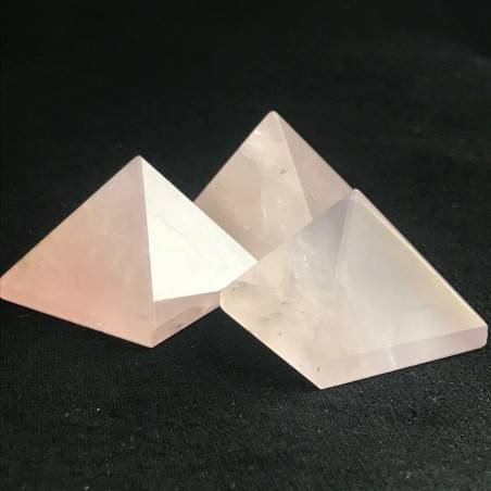 MINERALS * Wonderful Pink Rose Quartz PYRAMID 3.3x3.3cm Healing High Quality A+-2