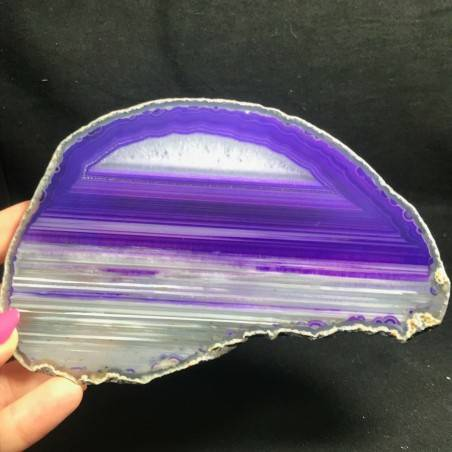 MINERALS *  GORGEOUS AGATE SLICE Purple Crystal Crystal Healing Chakra-1