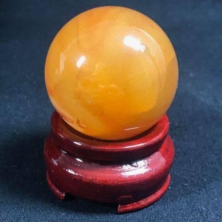 MINERALS * Wonderful Carnelian AGATE Sphere Crystal Crystal Healing-1