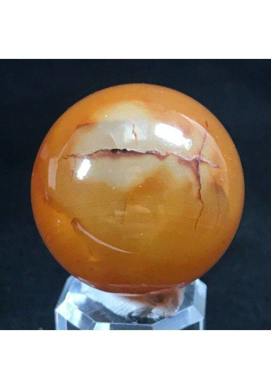 MINERALS * Wonderful Carnelian AGATE Sphere Crystal Crystal Healing-5