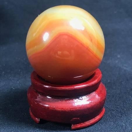 MINERALS * Wonderful Carnelian AGATE Sphere Crystal Crystal Healing-2