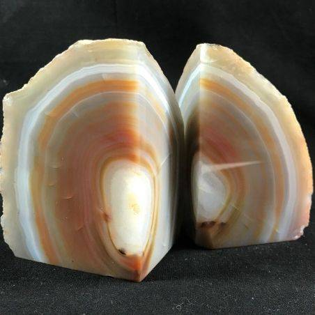 MINERALS * Polished Agate Geode Paperweight Grey / Brown Specimen Gift Idea-1