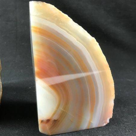 MINERALS * Polished Agate Geode Paperweight Grey / Brown Specimen Gift Idea-8