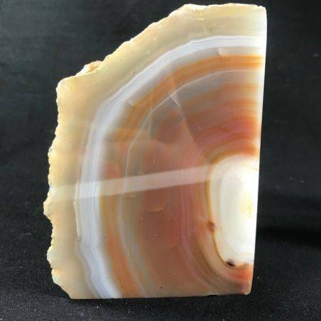 MINERALS * Polished Agate Geode Paperweight Grey / Brown Specimen Gift Idea-9
