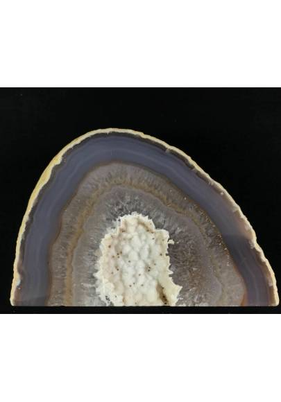 MINERALS * Polished Grey Agate Geode A+ Paperweight Natural Crystal-1