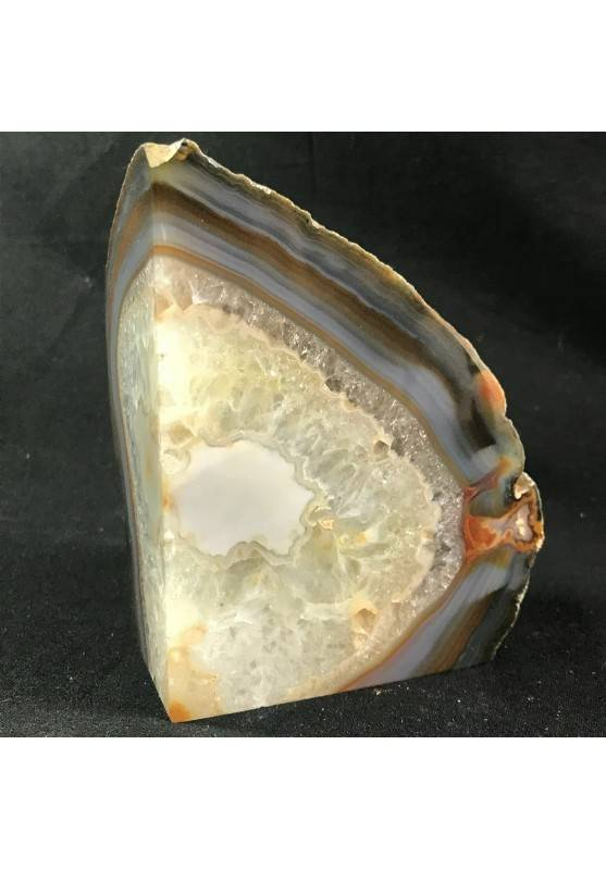 MINERALS * Polished Agate Geode Paperweight Grey / Brown Specimen A+-1