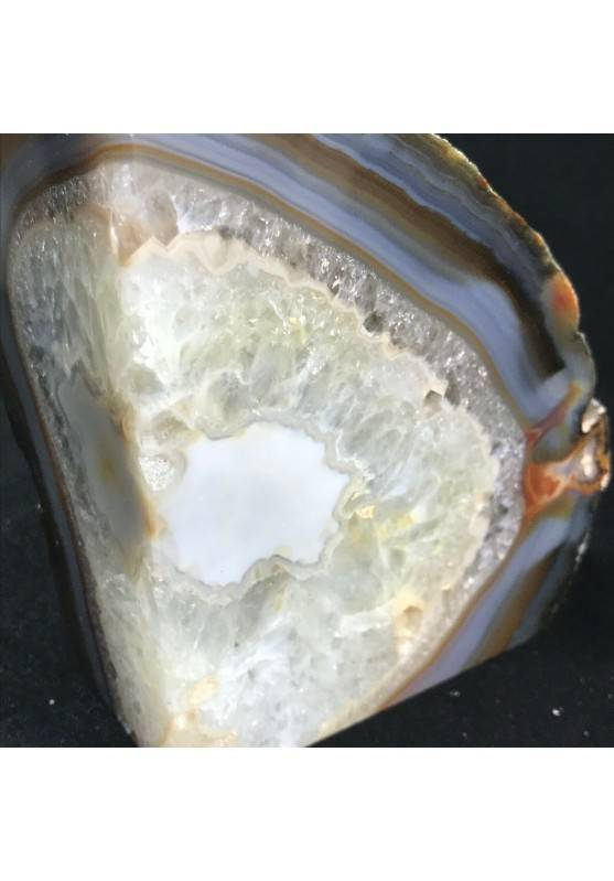 MINERALS * Polished Agate Geode Paperweight Grey / Brown Specimen A+-2