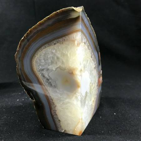 MINERALS * Polished Agate Geode Paperweight Grey / Brown Specimen A+-5
