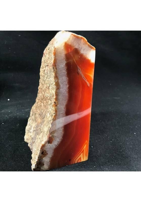 * Minerali * FERMACARTE in AGATA NATURALE Marrone da Collezionismo A+Fermafogli-1