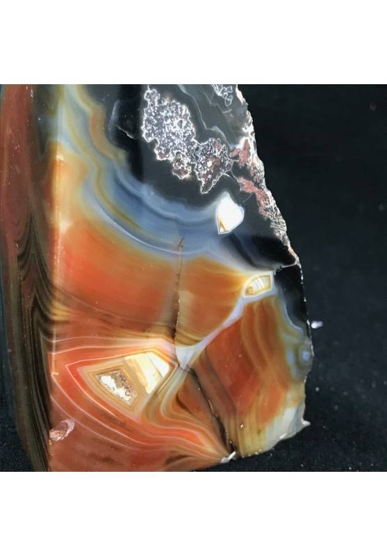MINERALS * Polished Agate Geode Paperweight Brown da Specimen A+-2