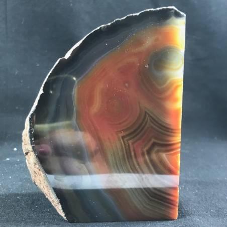 MINERALS * Polished Agate Geode Paperweight Brown da Specimen A+−3