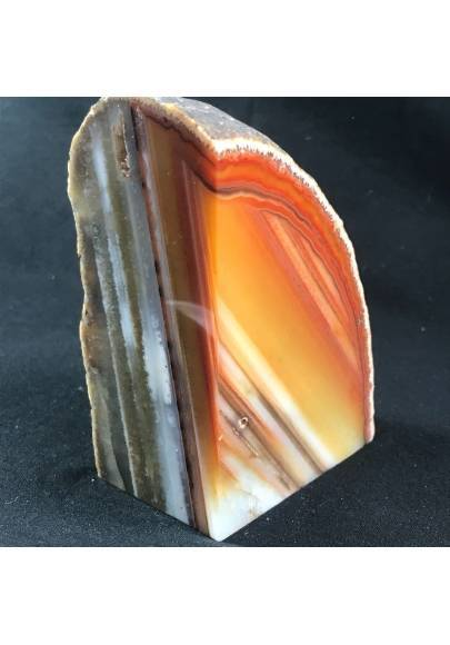MINERALS * Polished Brown Agate Geode Paperweight Specimen A+-1