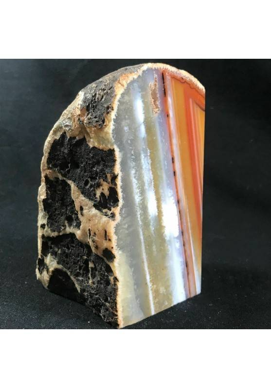 * Minerali * FERMACARTE in AGATA NATURALE Marrone da Collezionismo A+ Fermafogli-2