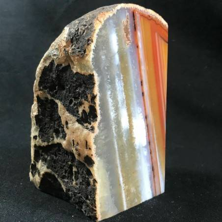 MINERALS * Polished Brown Agate Geode Paperweight Specimen A+-2