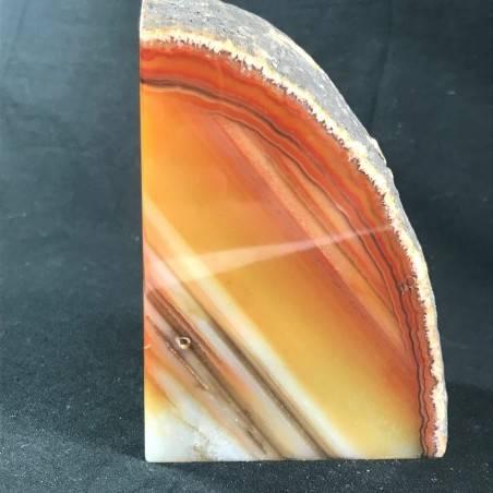 * Minerali * FERMACARTE in AGATA NATURALE Marrone da Collezionismo A+ Fermafogli-4