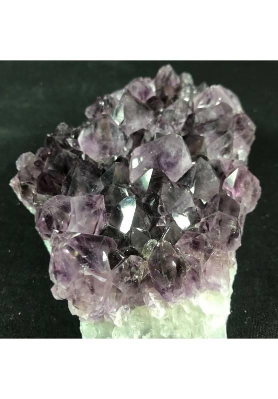 MINERALS * Dark AMETHYST Quartz Crystal Cluster URUGUAY 712g Very High Quality A+−3