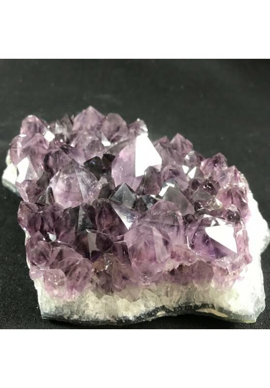 MINERALS * Dark AMETHYST Quartz Crystal Cluster URUGUAY 712g Very High Quality A+-4