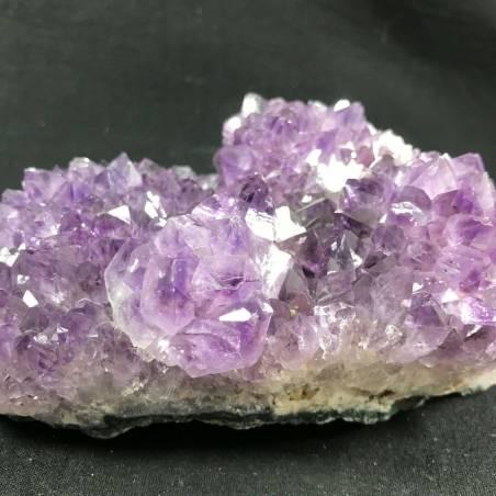 MINERALS * Dark AMETHYST Quartz Crystal Cluster URUGUAY 926g with CALCITE A+-5