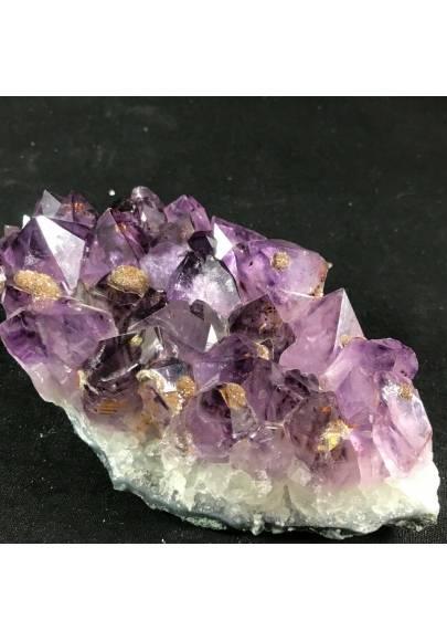 MINERALS * Dark AMETHYST Quartz Crystal Cluster URUGUAY 797g Crystal Healing A+-1