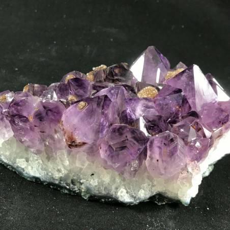MINERALS * Dark AMETHYST Quartz Crystal Cluster URUGUAY 797g Crystal Healing A+−3