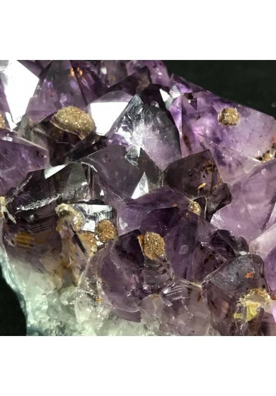 MINERALS * Dark AMETHYST Quartz Crystal Cluster URUGUAY 797g Crystal Healing A+-4